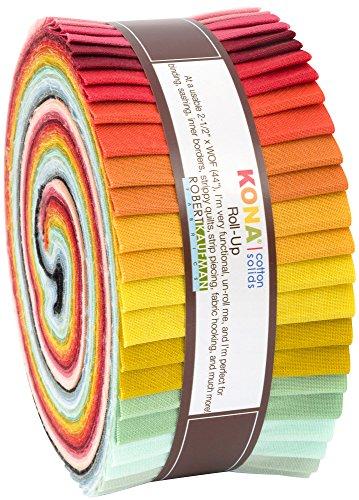 Robert Kaufman Fabrics Pond by Elizabeth Hartman Roll Up 40 Kona Cotton Strips from Robert Kaufman Fabrics