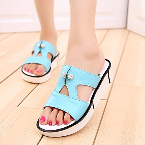 OME OME amp;QIUMEI Chanclas amp;QIUMEI Blue dTwqx8