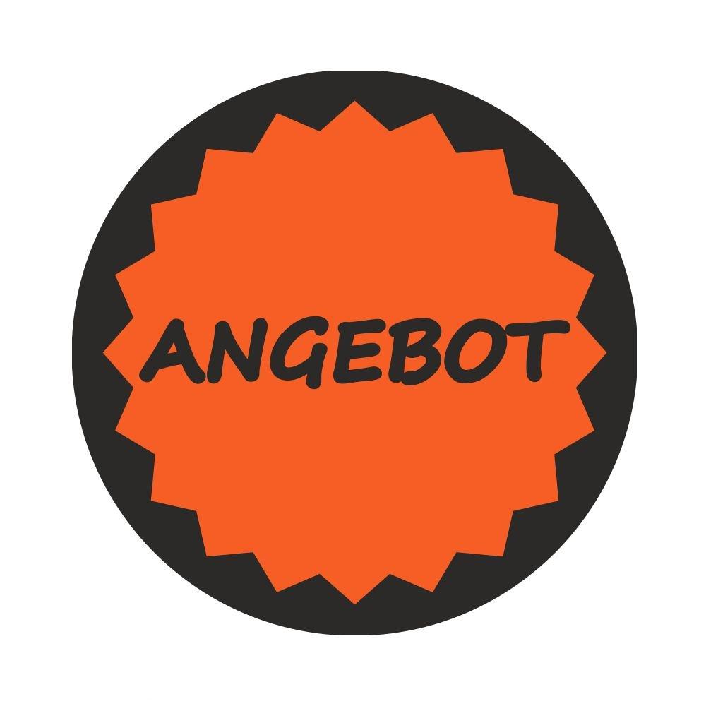 AktionsetikettenANGEBOT mit Rand 1.000 St/ück 1 Durchmesser 30 mm Leuchtrot
