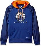 NHL Edmonton Oilers Men's Penalty Shot Long Sleeve Fleece Hoodie, X-Large, Blue Cobalt/Dark Orange