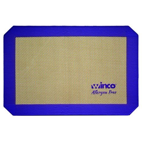 """Winco SBS-11PP, 8-1/4"""" x 11-3/4"""" Quarter-Size Purple Silicone Baking Mat, Allergen Free Pastry Mat, Cookie Sheet Liner"""
