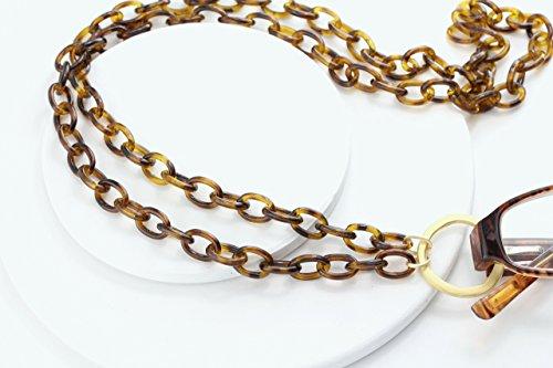 Maetri Eyewear Tortoise Shell and Matte Gold Eyeglass Loop Necklace Lanyard ()
