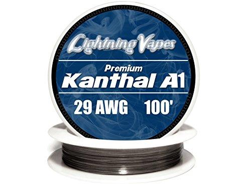 Genuine Lightning Vapes ® 29 AWG Kanthal A1 Wire 25' 50' 100' 250' 500' 1000' (100')