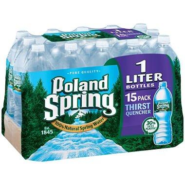 Poland Spring 100% Natural Spring Water (1 L bottles, 15 pk.) SCSC ()