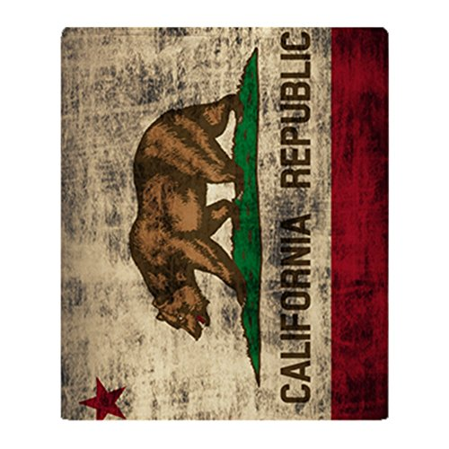 CafePress - Grunge California Republic Flag - Soft Fleece Throw Blanket, 50