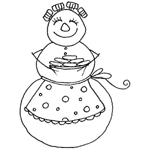 """Penny Black Mounted Rubber Stamp 2""""X2.25""""-Christmas Cookies"""