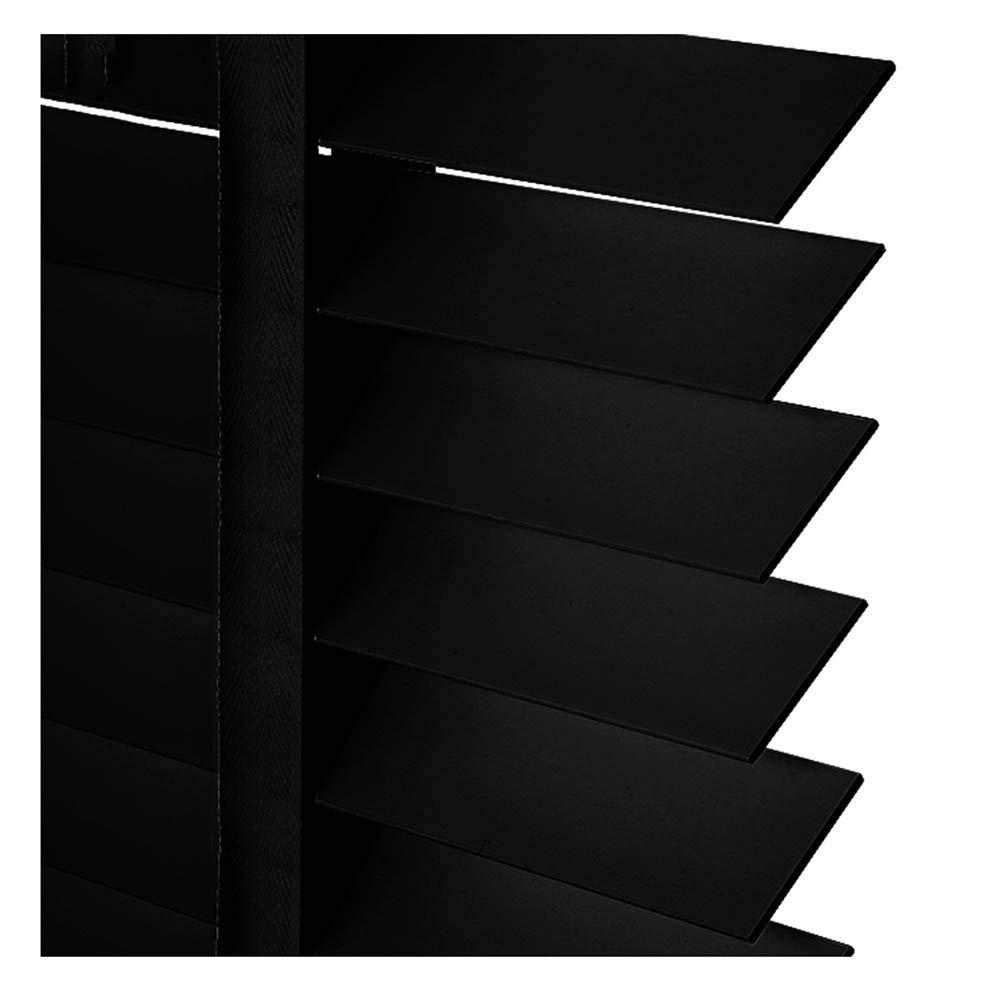 PENGFEI 無垢材 ウッド ブラインド 木製 水平ローマンシェード 事務所 日よけのカーテン、 黒、 サイズカスタマイズ (Color : A-Upgrade style, Size : 120x160cm) 120x160cm A-Upgrade style B07TH2NDNF