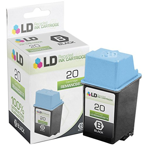 LD  Remanufactured Replacement Ink Cartridge for Hewlett Packard C6614DN (HP 20) Black
