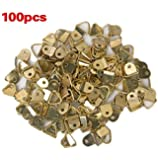 Small Triangle D-Ring Picture Frame Hangers Single Hole with Screws 100 PCS