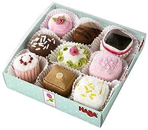 HABA Biofino Soft Petit Fours Set of 9 Plush Desserts - Perfect for Tea Parties