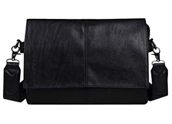 Men Casual Black Leather Luxury Messenger Crossbody Handbag Clutch Shoulder  Bag 00bda8088e964