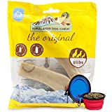 Himalayan Dog Chew 3 Pieces 100% All Natural Large YAK Chews for Dogs - Value Pack W/ Bonus Hot Spot Pets Bowl