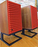 Steel Speaker Stands Type J for JBL L100 L112 L166 Yamaha NS-1000 Dahlquist DQM-9 & Pioneer CS-88 A - Pair