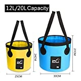 AMBER Collapsible Bucket - Portable Folding Water...