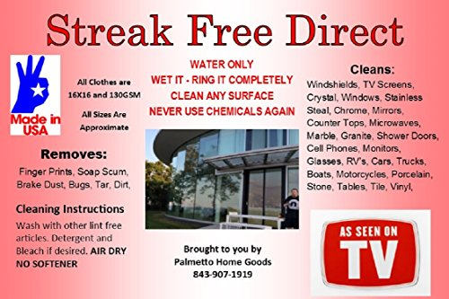 Streak Free Direct Microfiber Cleaning Cloth (12 Cloths)