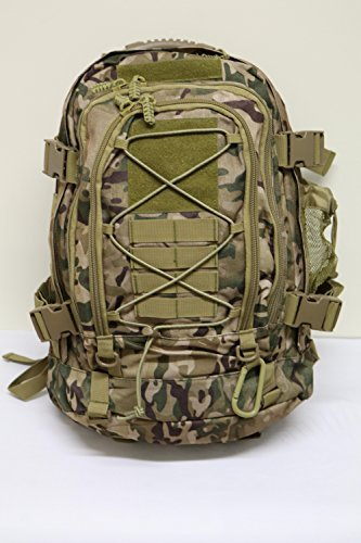 Rucksack Military - [Promotions] 40L Outdoor Expandable Tactical Backpack Military Sport Camping Hiking Trekking Bag [Factory Store] (Multicamo 08001)