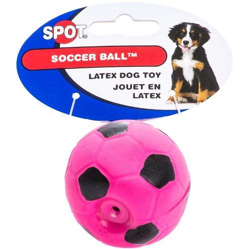 6 Pack Latex Soccer Ball, Assorted Colors, Toys for Small Dogs and Puppies (Size: 2 Inch) (Latex Zanies)