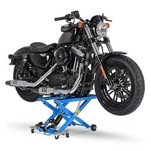 Motorrad Hebeb/ühne XL f/ür Harley Davidson CVO Street Glide Blau Scherenheber