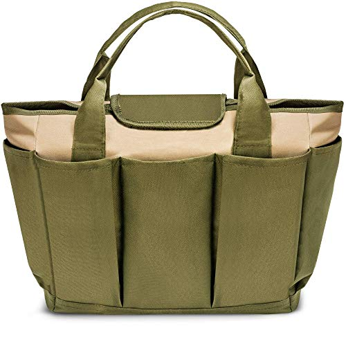 DRS Gardening Tool Equipment Bag & Organizer Hand Tote with 8 Side Storage Pockets ()