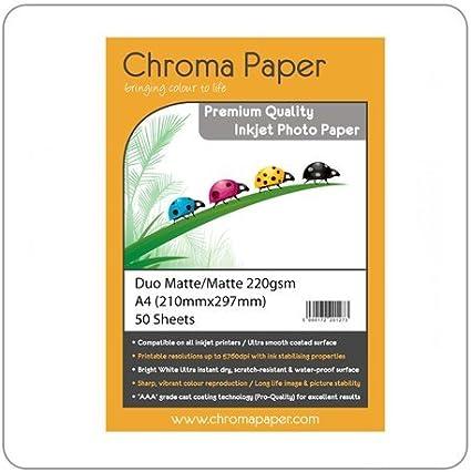 Papel fotográfico de Chroma, de tamaño A4, de doble cara, mate ...