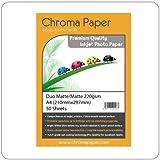Chroma–A4Duo de doble cara mate/mate de inyección de tinta papel fotográfico–220gsm (50hojas)