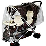 Enerhu Stroller Rain Cover Double Pushchair Buggy Wind Cover Tandem Universal