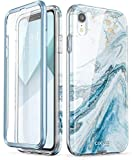 iPhone XR Case, [Built-in Screen Protector] i-Blason [Cosmo] Full-Body Glitter Bumper Case for iPhone XR 6.1 Inch 2018 Release (Blue)