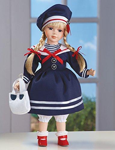 Samantha Sailor Blue Dress Adorable Porcelain Collectible Doll