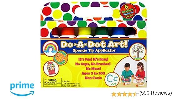 Amazon.com: Do A Dot Art! Markers 6-Pack Rainbow Washable Paint ...