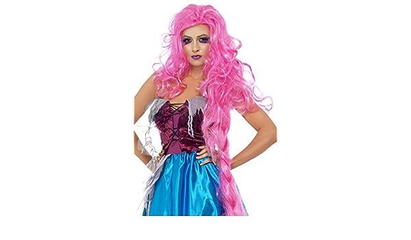 Smiffys Repulsive Rapunzel Wig, Pink (peluca): Amazon.es: Juguetes y juegos