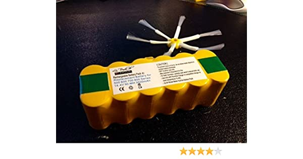 ENOVA® Batería Recargable +Potente para iRobot Roomba: modelos 800 ...