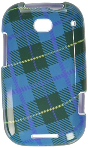 Mybat Protector Cover for Motorola MB520 - Retail Packaging - Blue Plaid Weave