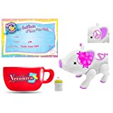Teacup Piggies Veronica (White with Pink Peace Signs) Pet Basic Set