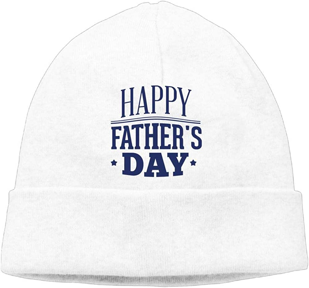 Michgton Happy Fathers Day 1 Beanie Hat Skull Hats Mens