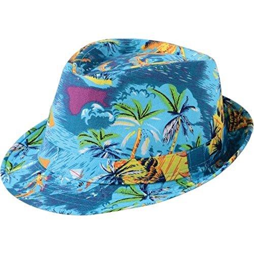 - happy deals Tropical Surf print cotton Fedora