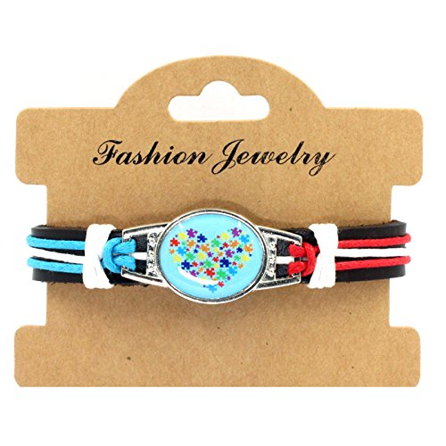 Sykdybz 100% Hand Woven Leather Autistic Bracelet, Four Quarter Wreath Bracelet,Six