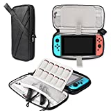 BUBM Nintendo Switch Storage Case, Portable Travel Organizer Case for NS, Protective Carrying bag with Game Card Slots, Black