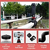 """Fotopro UFO2 Set Tripods for Phone,12"""" Flexible Tripod with Bluetooth for iPhone Xs, Samsung, Waterproof Tripod for Time-Lapse Photography, 360 Degree Spherical Tripod for GoPro, Black"""