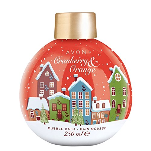 Avon Christmas Bauble Bubble Bath ~ Cranberry & Orange