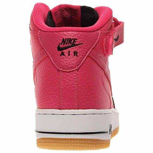 Nike Air Force 1 Garçons De Basket-ball De Haute Chaussures Noir / Vivid Rose-blanc
