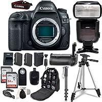 Canon EOS 5D Mark IV Digital SLR Camera Bundle (Body Only) + Professional Accessory Bundle (14 items)