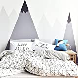 OTOB Lightweight Cotton Twin Duvet Cover Sets for Kids Boys Girls 3 Piece Reversible Plaid Home Textile Geometric Teen Bedding Sets with Pillow Shams, Twin