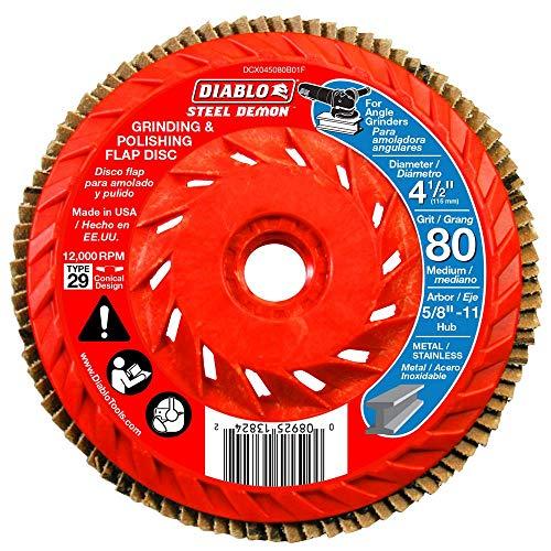 Diablo Flap DISC Integrated HUB 80G (Diablo Steel Demon Grinding And Polishing Flap Disc)