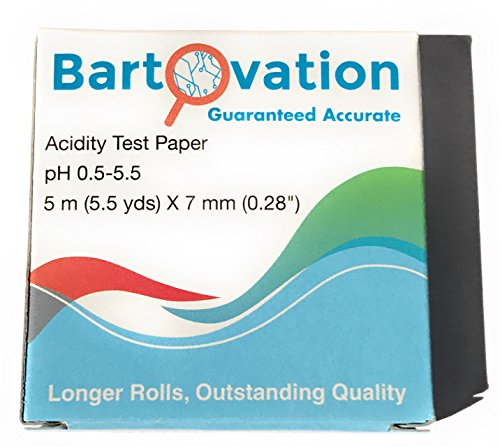 Bartovation pH Test Paper for Kombucha Brewing 16 Foot Roll with Dispenser 0.5 to 5.5 pH