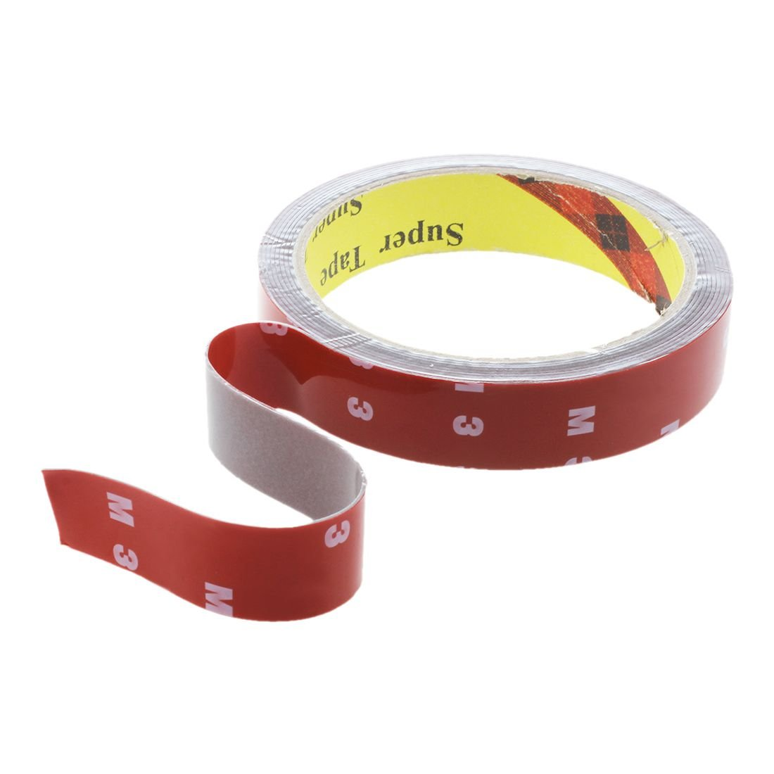 3M Double Sided Tape R SODIAL 3M Strong Permanent Double Sided Super Sticky Foam Tape Roll For Vehicle Car Red 20MM*3M
