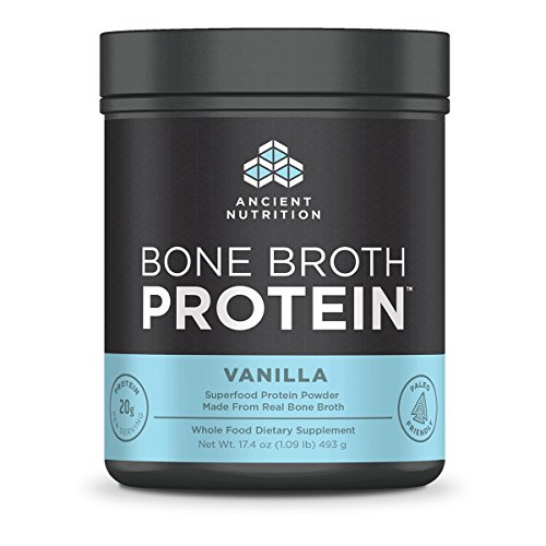 Ancient Nutrition Bone Broth Protein, Vanilla, 20 Servings Size - All-Natural, Gut-Friendly, Paleo-Friendly Protein Powder, 17.4 Ounce