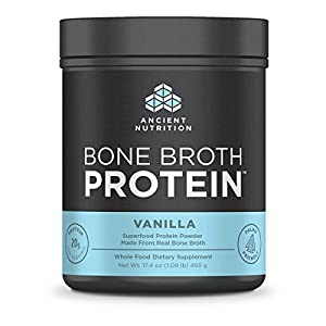 Ancient Nutrition Bone Broth Protein Powder, 20g Protein Per Serving, Paleo, Low Carb Superfood, Vanilla, 17.4 oz