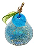 Murano Glass Hand Blown Turquoise Pear