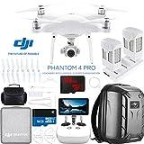 DJI Phantom 4 Pro+ Quadcopter Drone with the All-New DJI Phantom Camera Plus Extra Battery + Charging Hub and Custom Backpack 64GB Memory Bundle (CP.PT.000549)