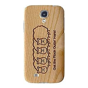 Tallada En Madera Efecto _ Outta 'aquí Full Wrap Case Impreso en 3d gran calidad, Snap-on Cover para Samsung Galaxy S4, diseño de barbacoa
